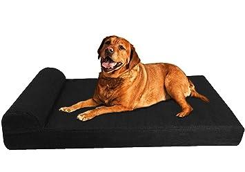 dogbed4less Premium Extra Grande reposacabezas ortopédica Espuma de memoria mascota perro cama con externo interno Case + Durable Lavable Impermeable para ...