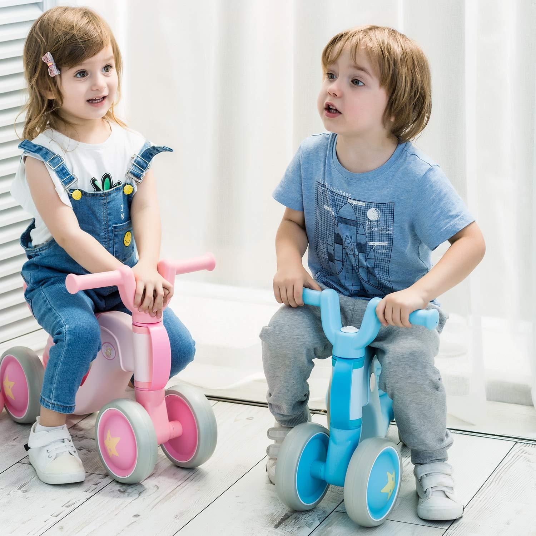 quadriciclo sin pedales para ni/ños de entre 1 y 3 a/ños BAMNY Bicicleta sin pedales Rojo-Negro