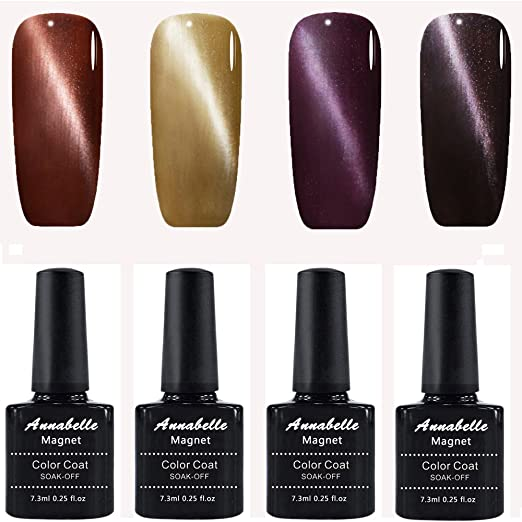 4 opinioni per Annabelle Smalto Semipermanente Magnetico Nail Polish UV LED Gel Unghie 7.3ml