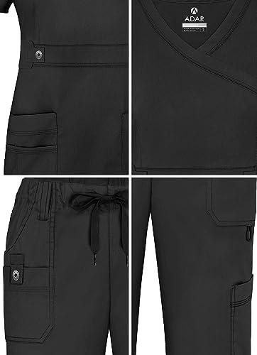 Pantalones Adar Uniforme Medico De Mujer Casaca Cruzada Pantalones De Bolsillos Multiples Ropa Brandknewmag Com