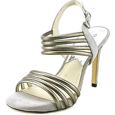 6917d723717e Michael Michael Kors Cameron Strappy Platform Black Pale Gold Sandal (9.5)