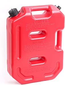 WINTOOLS 10 L/2.6 Gallon Gasoline Pack Gas Container Fuel Can (Red)