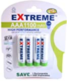 4 x AAA 1100 mAh Extreme Rechargeable Batteries -