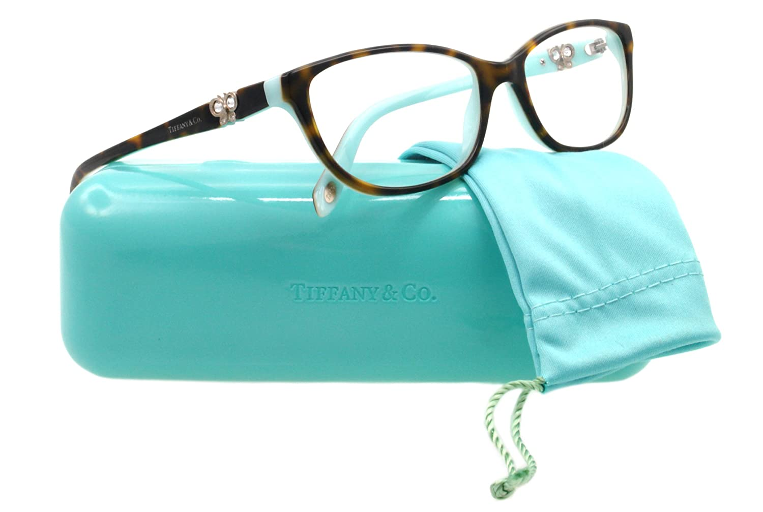 Amazon.com: Tiffany Eyeglasses TIF 2051B HAVANA 8134 TIF2051 53MM ...