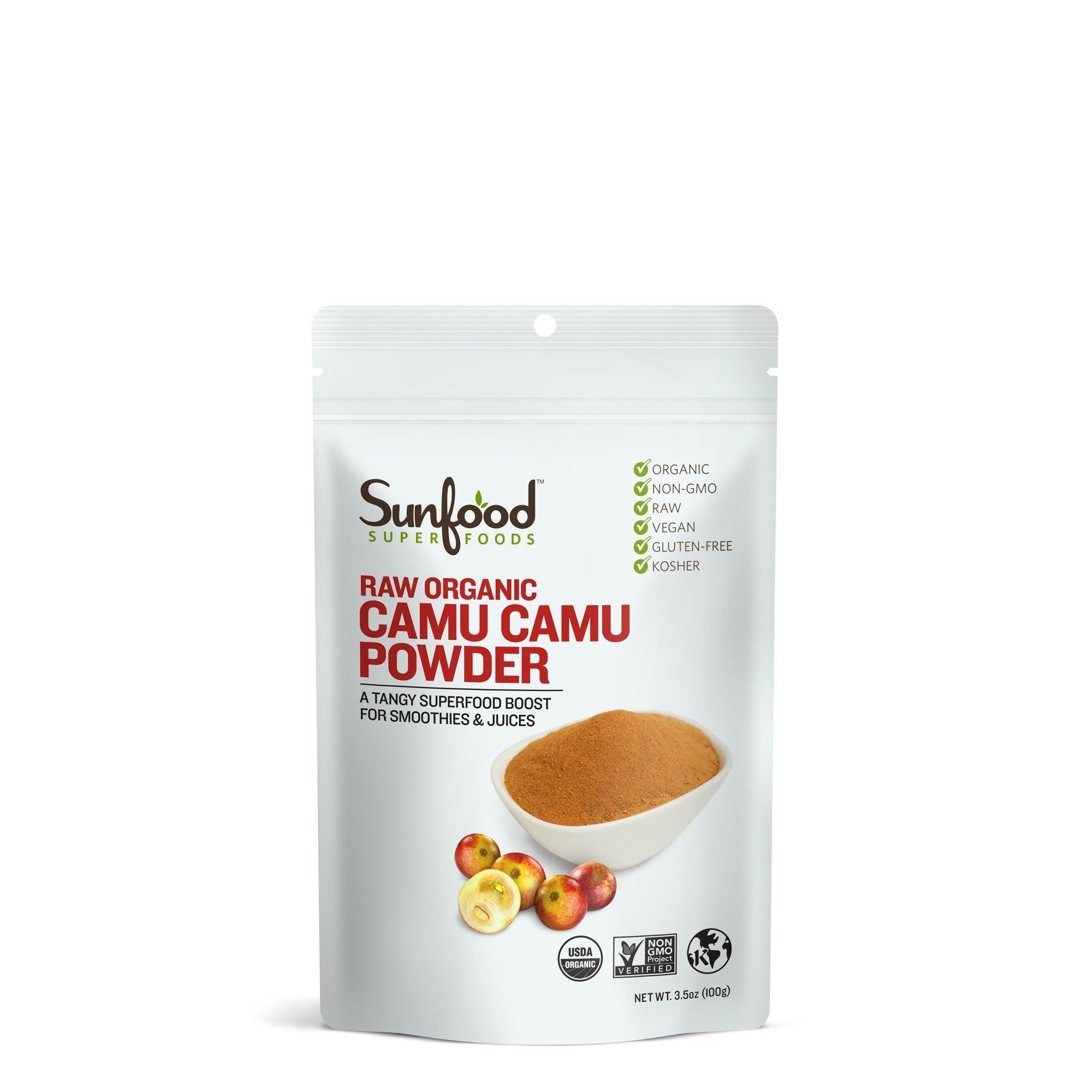 Sunfood Camu Camu Powder, 3.5 oz, Organic, Raw