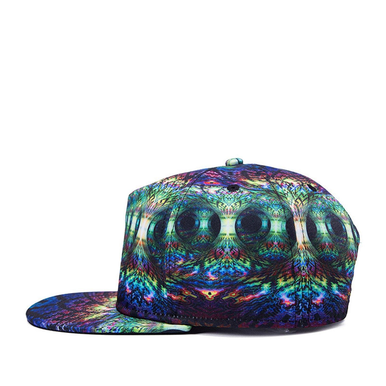 Amazon.com  edword yimsun Cap 3D Print Hat Bon Flat Brimmed Baseball Cap 3D  Print Adjustable Hater Raiders Hip hop Caps  Clothing a6e5f8bbbc5