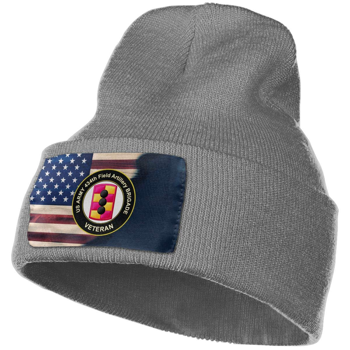 FORDSAN CP US Army 214th Field Artillery Brigade Veteran Mens Beanie Cap Skull Cap Winter Warm Knitting Hats