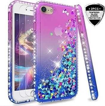 Prime Guardz iPhone 8 Funda iPhone 7 Funda Glitter Funda B