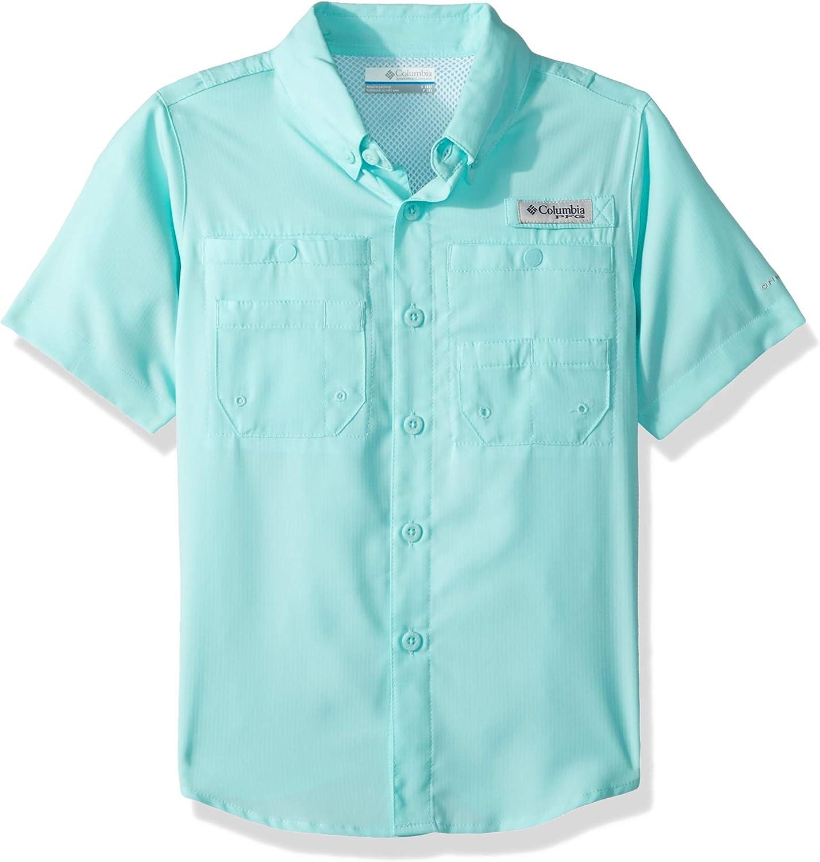 Columbia PFG TamiamiTM Camisa de Manga Corta de Manga Corta para niño, Niños, Camisetas abotonadas, 1675321, Golfo Stream, Large: Amazon.es: Deportes y aire libre