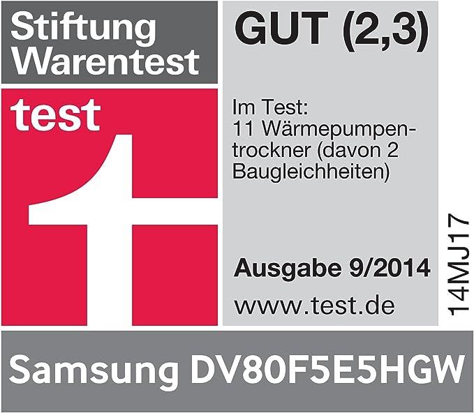 Samsung DV80F5E5 - Secadora (A + +, 220-240 V, 50 Hz, 598 mm, 638 ...