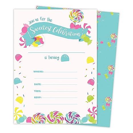Tarjetas De Invitación Para Cumpleaños De Candy 1 25