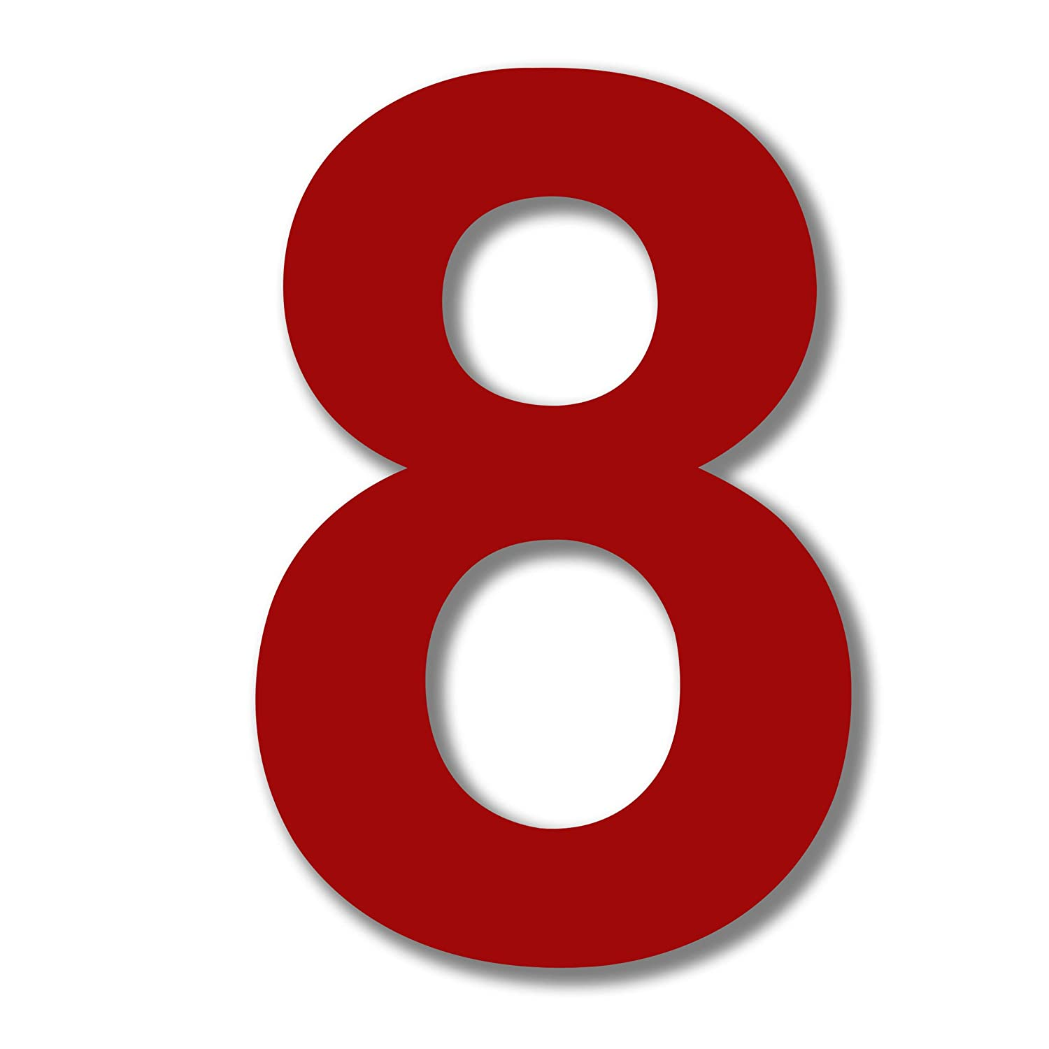 Qt modern house number 6 inch red stainless steel number 8 eight
