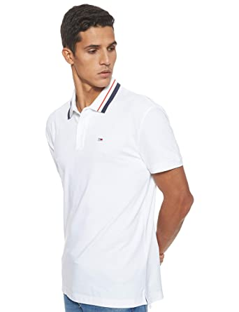 Tommy Hilfiger TJM Classics Tipped Stretch Polo Hombre: Amazon.es ...