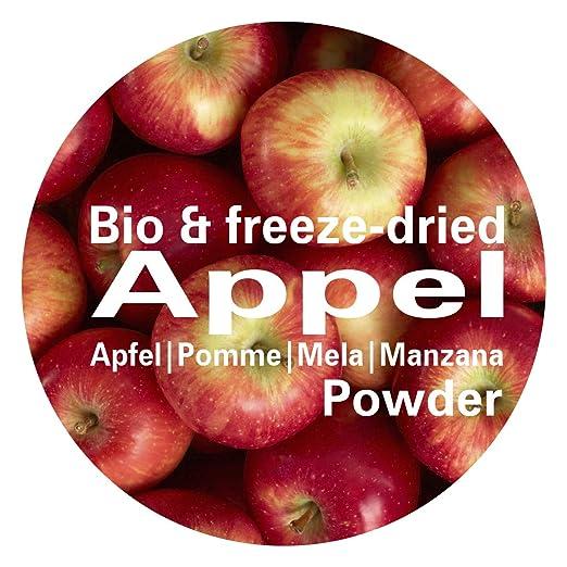 Manzana en Polvo - Liofilizado|biológico|vegano|crudo|pura fruta|no aditivo|rica en vitamina|Good Nutritions 120g: Amazon.es: Alimentación y bebidas