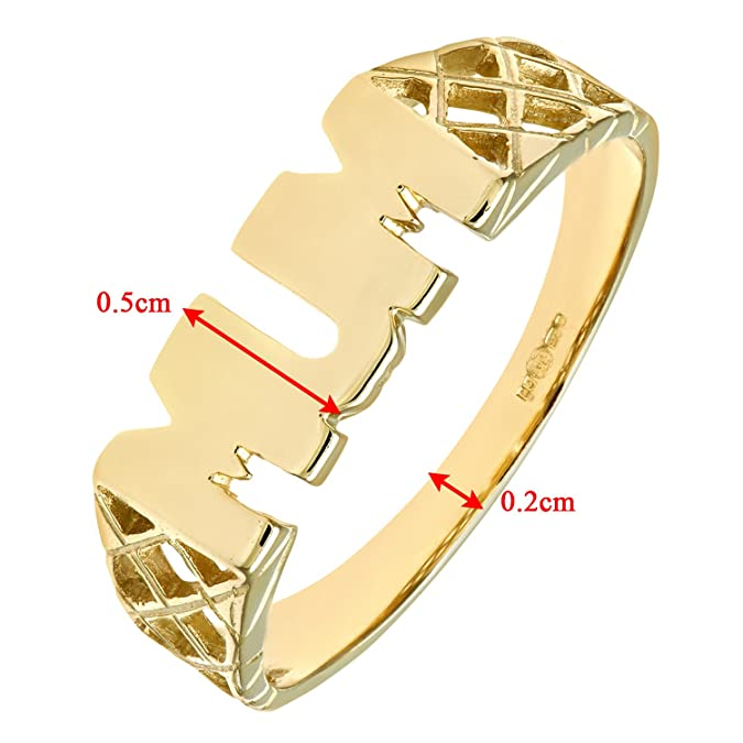 Citerna 9 ct Yellow Gold Mum Ring GMa9Jv2UDc