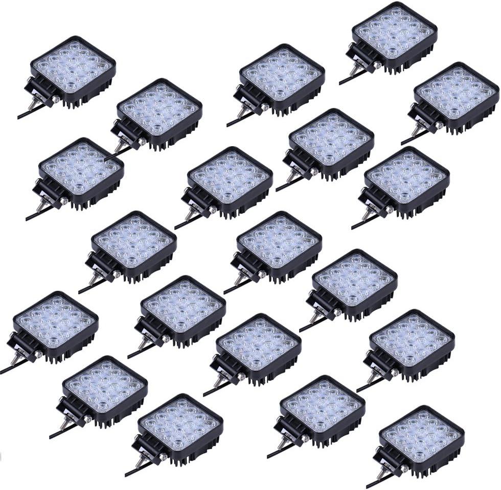 48W Led Foco Lampara de coche Faros de trabajo led Luces diurna Luz de la luz de los faros de campo a traves de SUV UTV ATV faros (NFW48W-20)