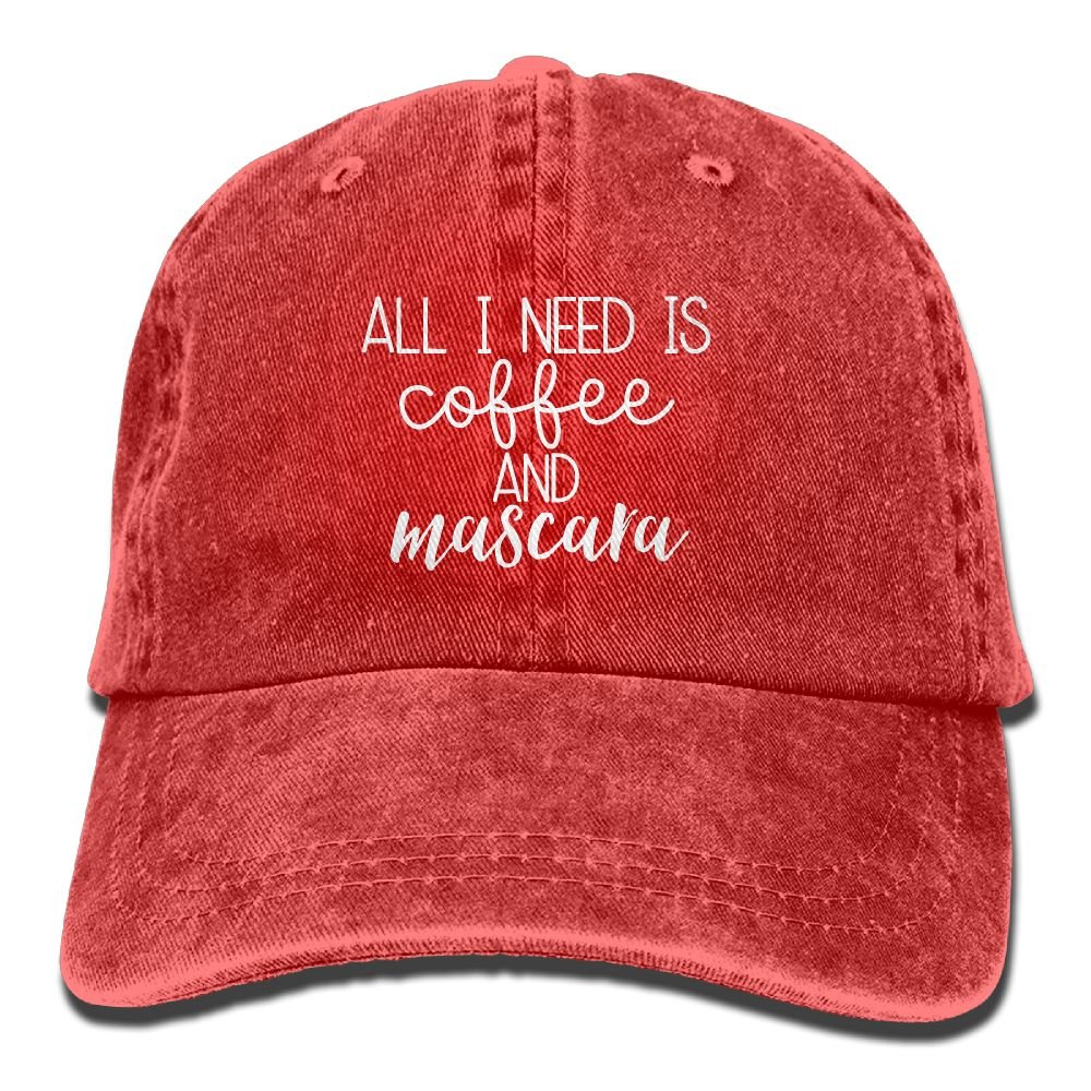 Aeui Ping Need is Coffee and Mascara 1 Classic Baseball Cap Unisex Adult Cowboy Hats