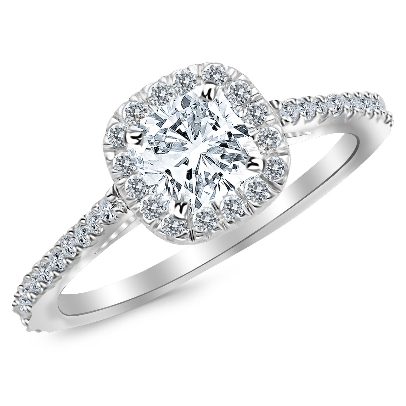 double ring rox diamond halo rings cushion cut