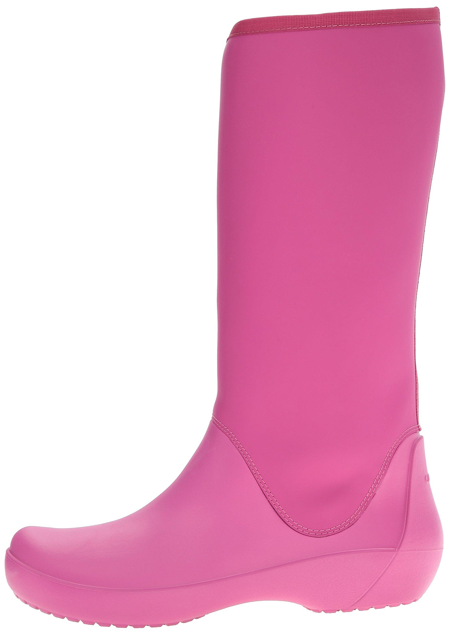 Crocs Women's Rain Floe Tall Boot, Berry, 7 M US by Crocs (Image #5)