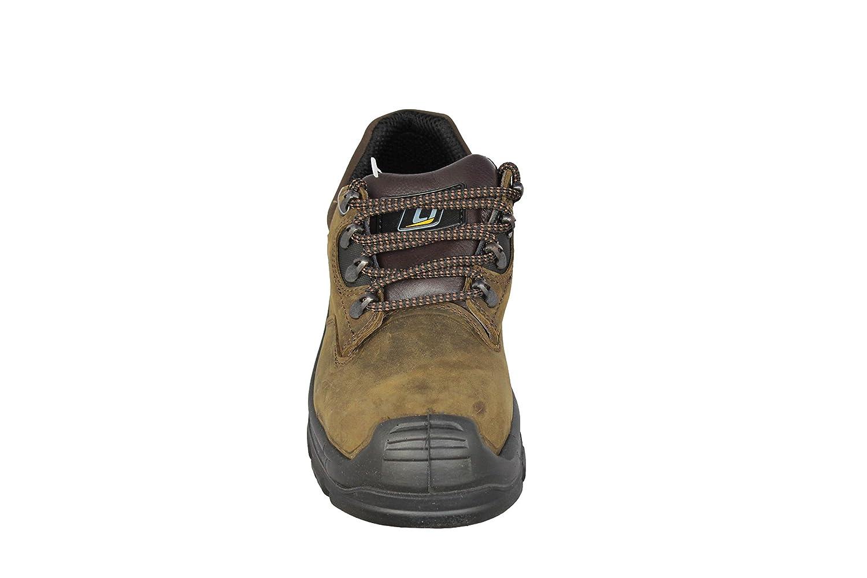 Opsial - Calzado de protección de Piel para hombre, color Marrón, talla 38