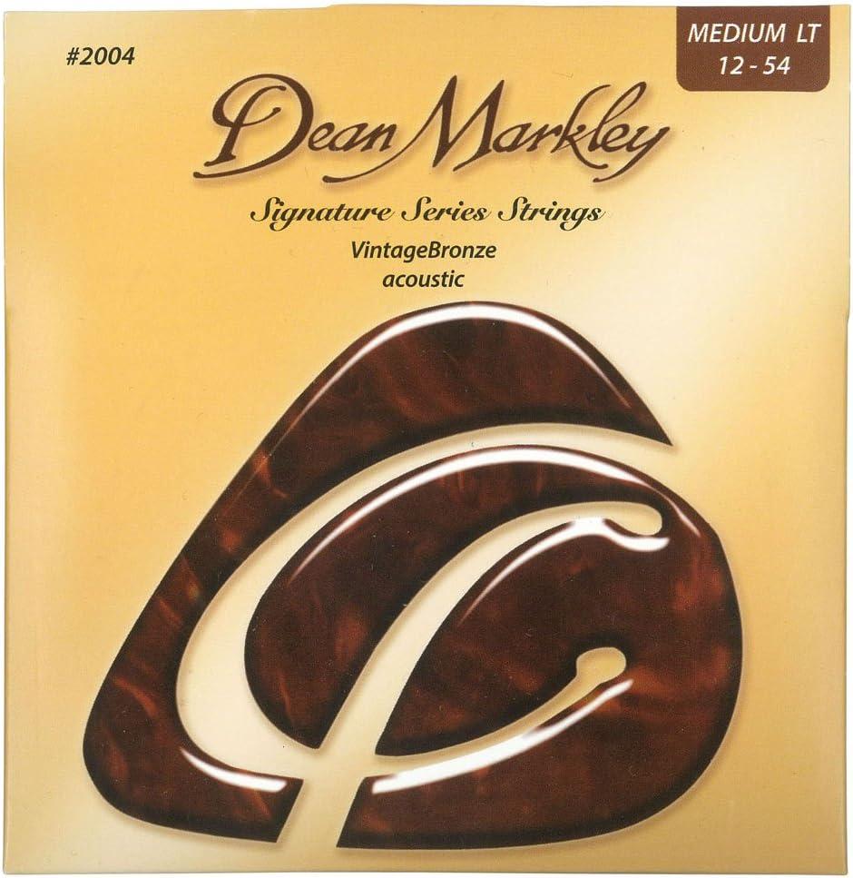 Dean Markley VintageBronze Acoustic ML 2004 - Juego de cuerdas para guitarra acústica de bronce.012 - .054