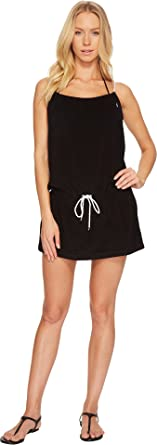 8acf3b0dd3 Polo Ralph Lauren Womens Iconic Terry Rope Dress Cover-Up Black XS One Size