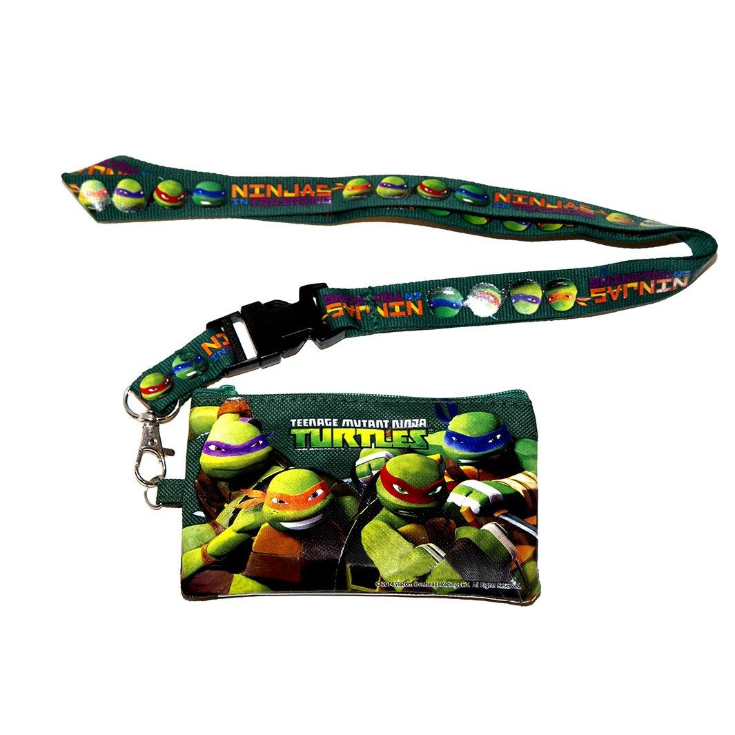 Ninja Turtles Green Lanyard with Coin Purse