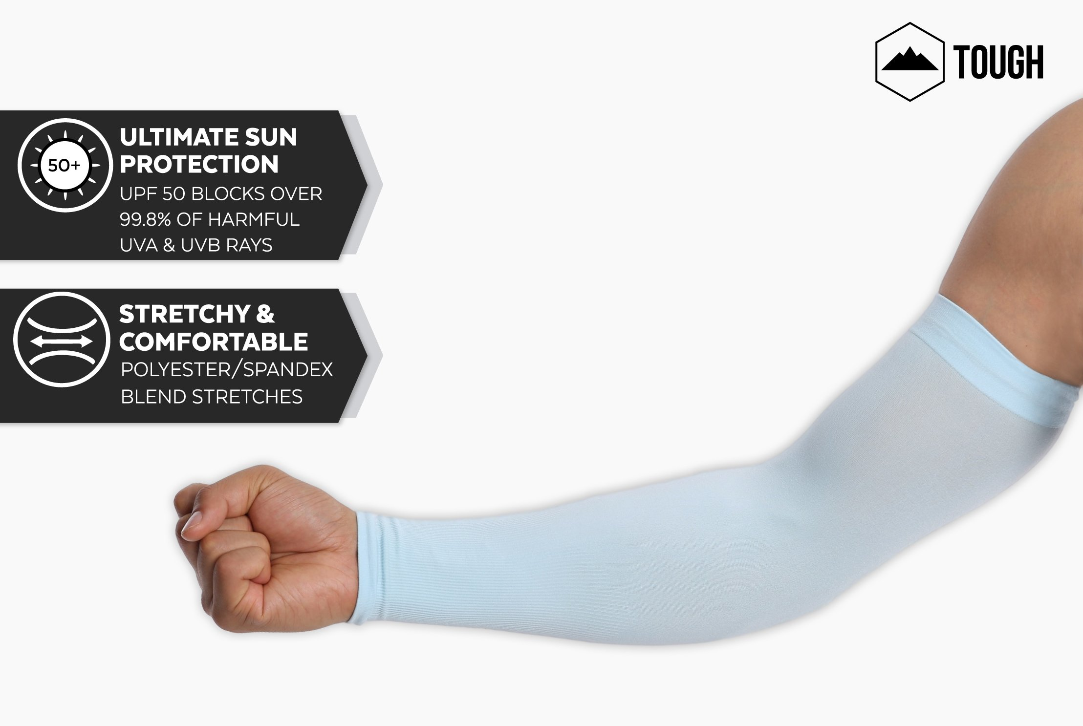 UV Protection Cooling Arm Sleeves – UPF 50 Long Sun Sleeves for Men   Women.  Perfect for Cycling 1e56e7cd2