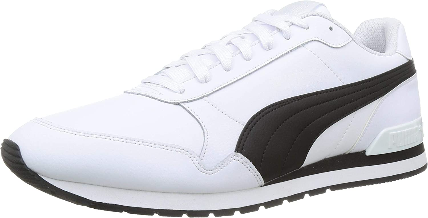 PUMA ST Runner v2 Full L, Zapatillas Unisex Adulto, Blanco White Black, 44 EU: Amazon.es: Zapatos y complementos