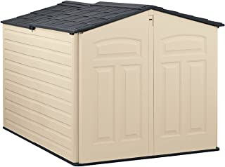product image for Rubbermaid Slide-Lid Resin Weather Resisrant Outdoor Garden Storage Shed, Sandstone