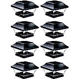 NOMA Solar Post Lights   Waterproof Outdoor Cap Lights for 4 x 4 Wooden, Deck, Patio, Garden, Decor or Fence   Warm…