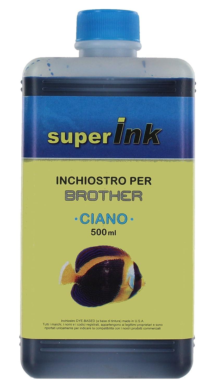 250ml (NERO PIGMENTATO) - Inchiostro superInk PIGMENTATO per la ricarica di stampanti inkjet Brother Euronet srl (Rome Italy)