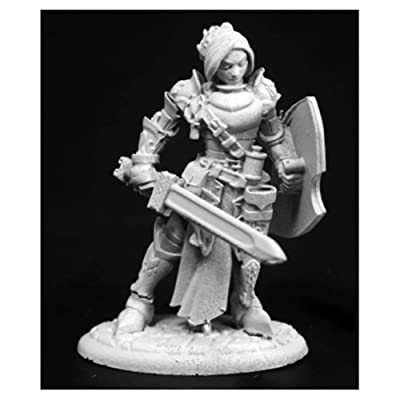 Reaper Merrowyn Lightstar, Female Elf Paladin #03764 Dark Heaven Unpainted Mini: Toys & Games
