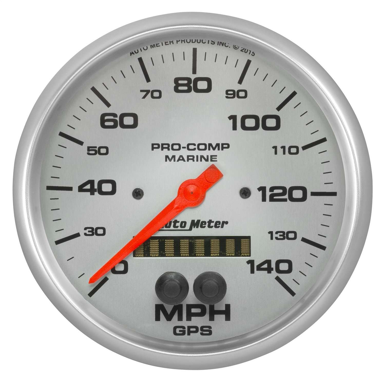 5 GPS Speedometer 140Mph Marine Silver Auto Meter AutoMeter 200647-33 Ultra-Lite Gauge