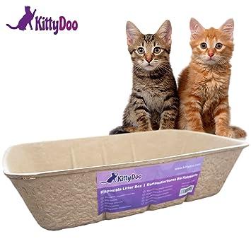 Kitty Ghundoo - Bio Gatos Toilette, Compostable., higiénico, olor brazo - saludable, Cuidado fácil antiarañazos de papel: Amazon.es: Productos para mascotas