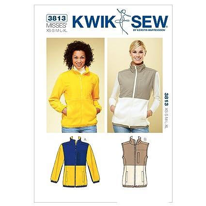 Amazon.com: Kwik Sew K3813 Jacket and Vest Sewing Pattern, Size XS ...
