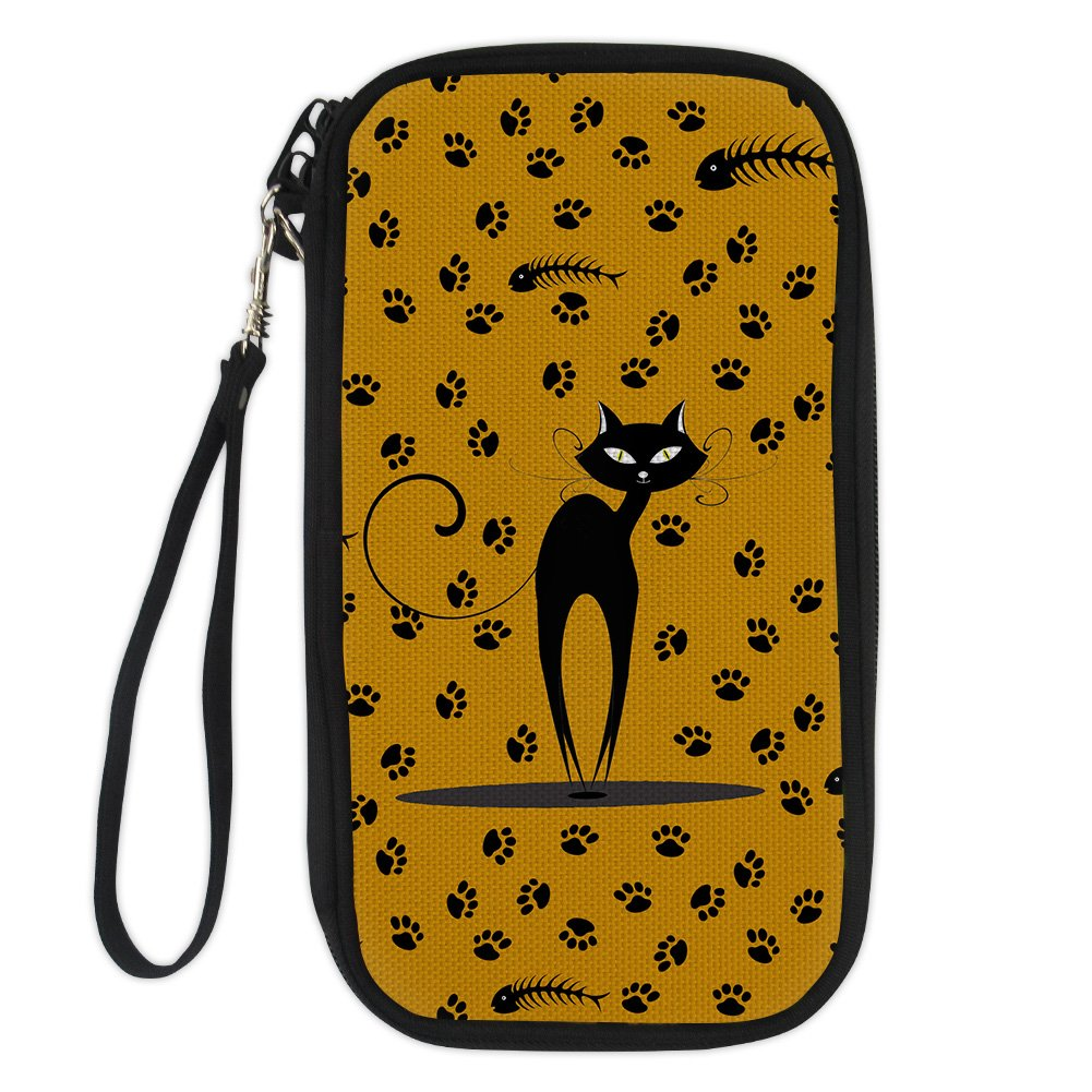 Bigcardesigns Passport Holder Double-sided Travel Wallet Fashion Cats Print
