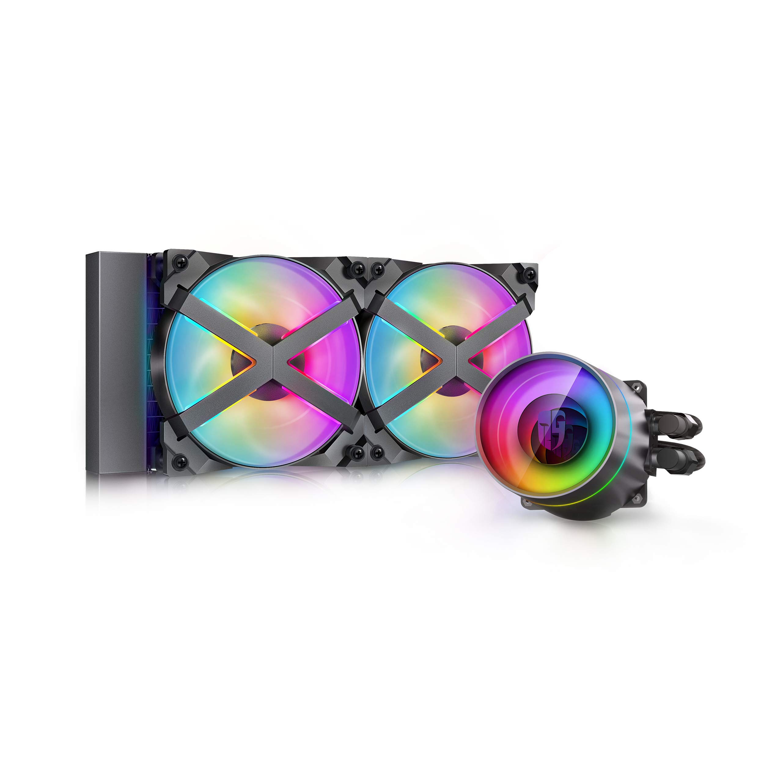DeepCool Castle 240EX RGB AIO Liquid CPU Cooler 240mm Anti-L