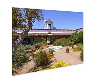 Charming Ashley Giclee Metal Panel Print, Mexican Style House And Garden, Wall Art  Decor,