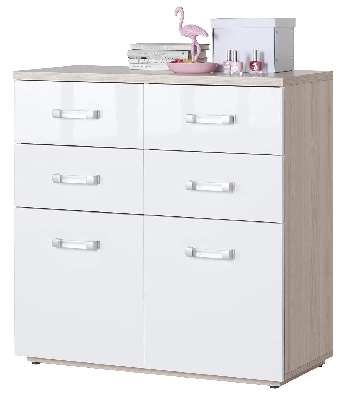 Salone-negozio-online Kit cajonera cómoda Composad 2 Puertas + 4 ...