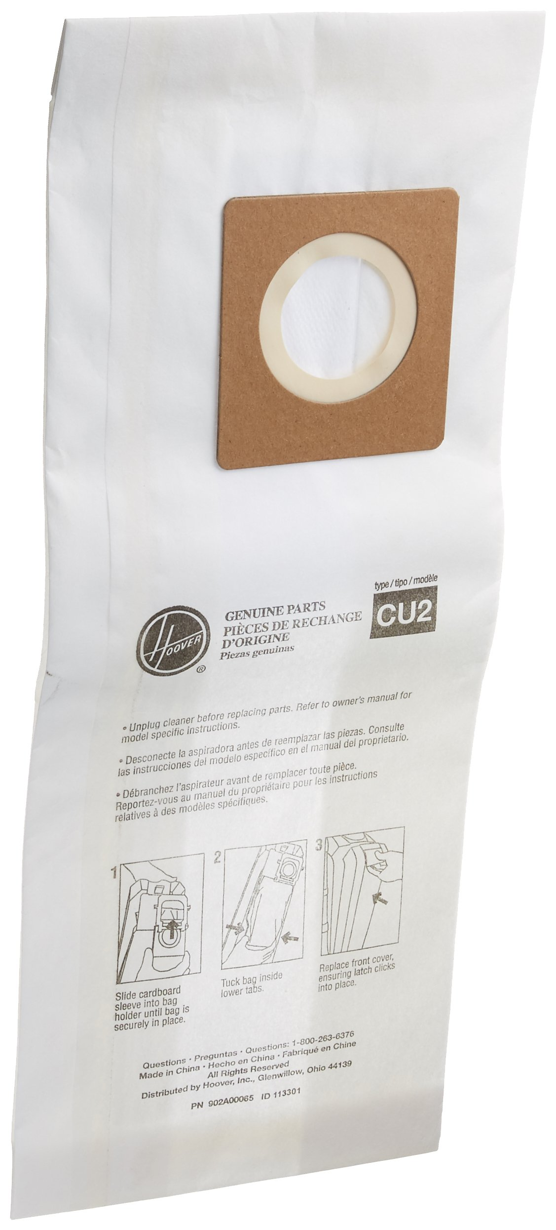 Hoover Paper Bag (10 Pack), Hushtone Cu2 902A00033 by Hoover