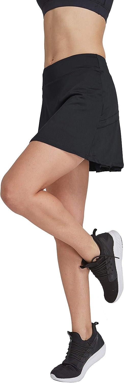HonourSport - Falda de tenis para mujer con mallas deportivas, tallas XS - XXL Negro XS