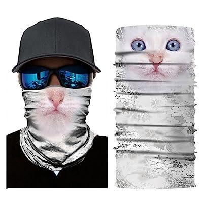 Alueeu Scarf Bandana Neck Gaiter Scarf Tube Headwear Balaclavas Dustproof Riding Windproof Uv for Outdoor Hiking Cycling: Office Products