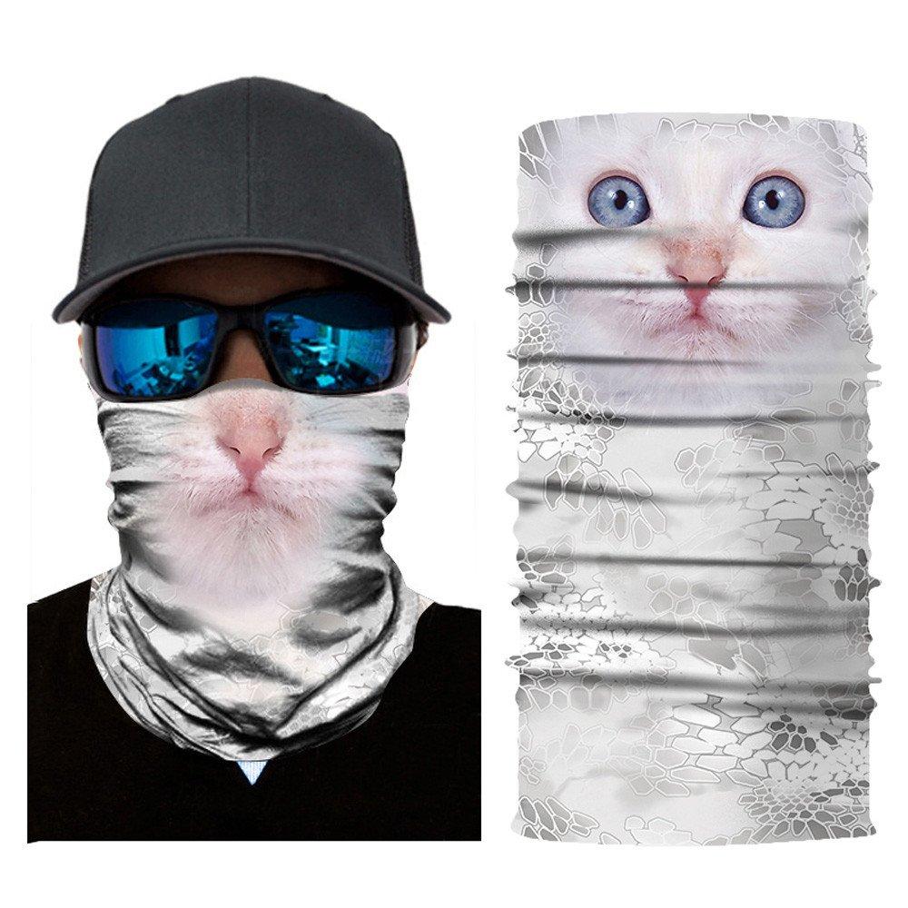OWMEOT Stretchable Face Shield Mask Guards Balaclava Headwear for Camping,Running,Cycling, Biking, Motorcycling,Fishing,Hunting,Yard Working and Sun UV Protection (D)
