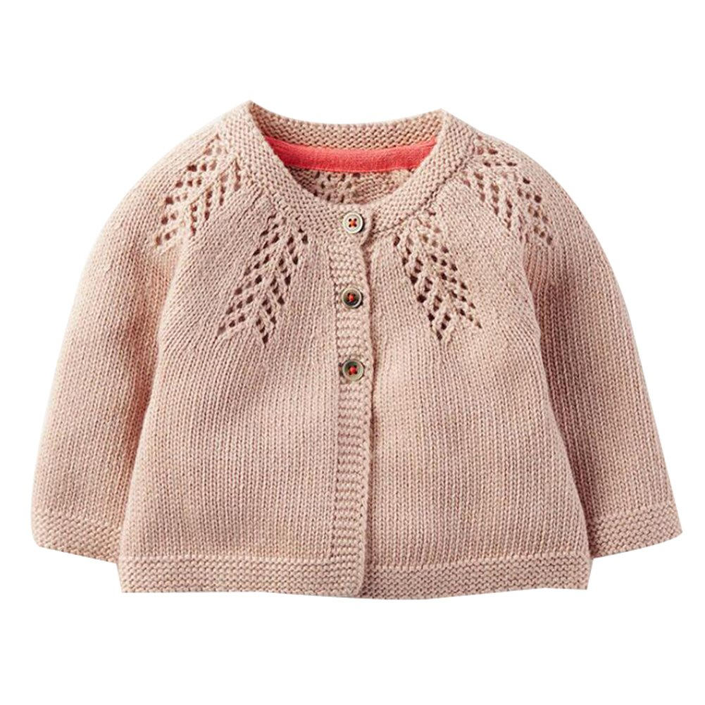 Baby Little Girls Knit Cardigan Sweaters Princess Crew Neck Sweater Jacket for Dresses Skirt