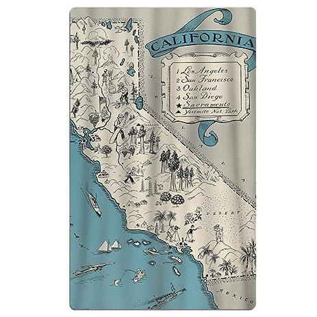 Amazoncom Funny California Map Brightly ColouredOne Sizeto A