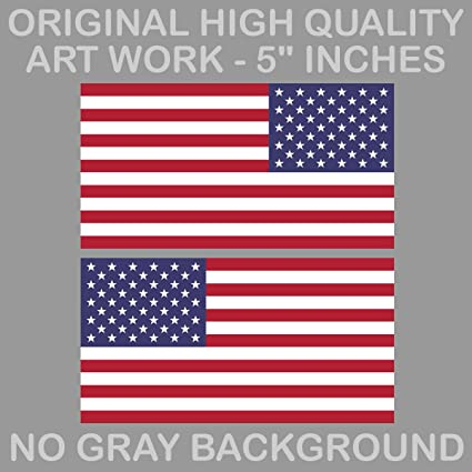 "4/"" American Flag Sticker Die Cut Decal america usa"