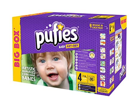 Pufies Baby Art Dry - 90 Pañales, Talla 4, 7-14 Kg
