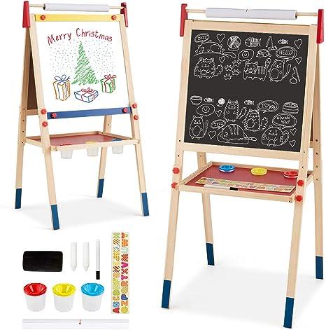 Spieltafel Holztafel Whiteboard /& Kreidetafel /& Zeichenpapier Standtafel Zubeh/ör h/öhenverstellbar Kindertafel doppelseitig COSTWAY 3 in 1 Kinder Staffelei inkl Modell 1