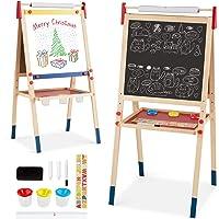 Altezza 103 cm 43 x 32 cm Area di Disegno di Grandi Dimensioni Shinehalo Lavagna Magnetica per Bambini Cavalletto Doppia Faccia Bambini 2-in-1 Lavagna Magnetica Pieghevole e Portatile Cancellabile